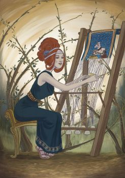 Arachne s tapestry by la-mims