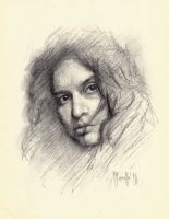 Portrait in charcoal SP by SILENTJUSTICE