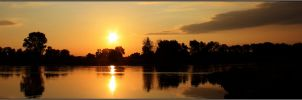 Sunrise at the River by Clu-art
