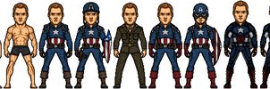Captain America (Steven Rogers) by DarkKnight257