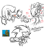 Some fast Doodles by UltraPixelSonic
