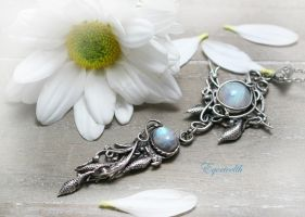 EQUERIEELTH -Silver and Moonstone by LUNARIEEN