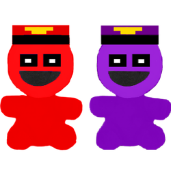 Redman and Purpleman plushies by KidcoolYT