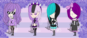 [CLOSED] Goth Girls Adoptables. by beni100