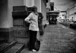 Lady Waiting For a Bus by parablev