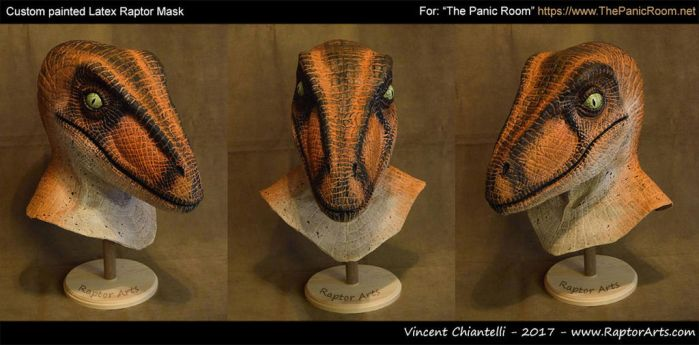 Custom Raptor Mask for 'Panic Room Entertainment' by RaptorArts