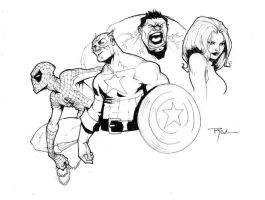 SDCC sketch 02 by johnnyrocwell