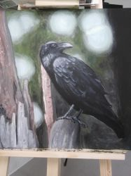 Crow Painting by EiceBleu