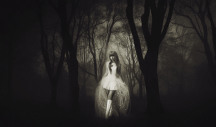 Girl in Forest. by Evelenne