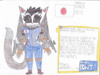 kitsune in animals of the agents by Dustyamigoking