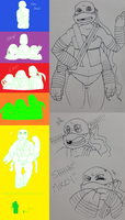 ~TMNT Brother Fusion~ by MizzNeon