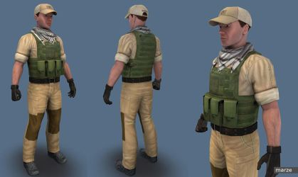 Player Red02 by marze3d