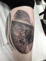 Gandalf the Grey Tattoo by Paigemon