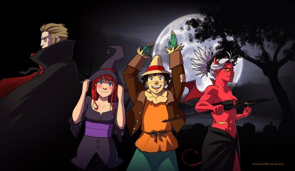 Everblue Halloween 2012 by Blue-Ten