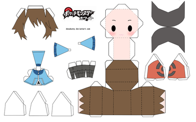 Pokemon Touya Papercraft by tsunyandere