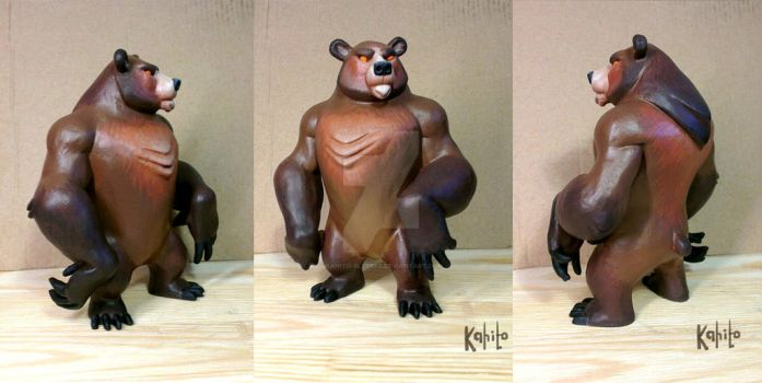Grizzly bear (color) by Kahito-Slydeft