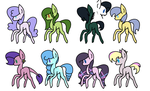 Earth Pony Adoptables by TheMaskedMare