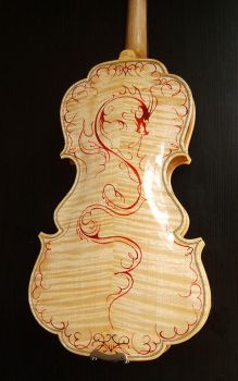 My second 17th century model violin is finished. by deviantviolins