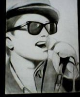 2013 drawing - Bruno Mars :) by nielopena