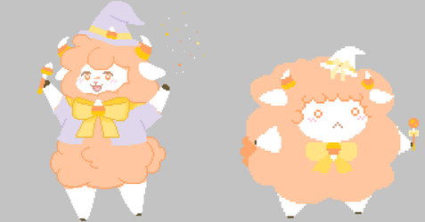 Sheepie Candy Corn Witch [OPEN] [PAYPAL ONLY] by SheepieAdopts