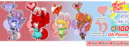 Super Cute CHIBI Valentine YCH Commissions!!! by Numbsoul