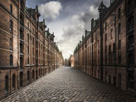 Doorless Street Premade Background by Lora-Vysotskaya