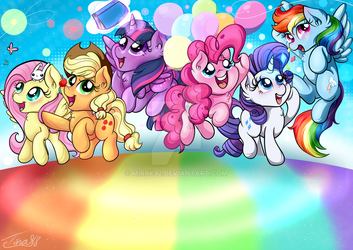 The mane 6 by mirry92