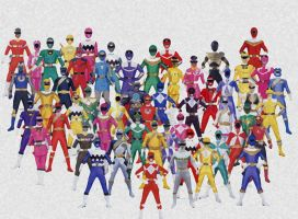 Power Rangers- Collage by Mister-Cote