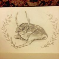 Sketchbook Fallow Deer by Sidhe-Etain