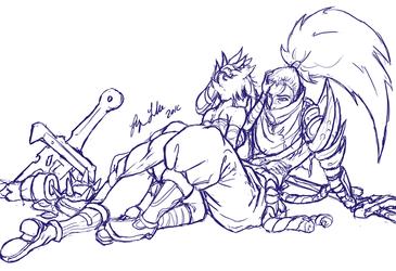 Riven and Yasuo The Two of Us by Bryan-Lobdell