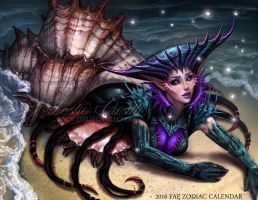 Cancer - 2016 Fae Zodiac Calendar by Enchantress-LeLe