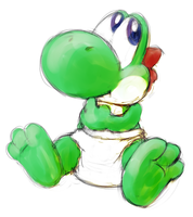 Baby Yoshi by ColossalStinker