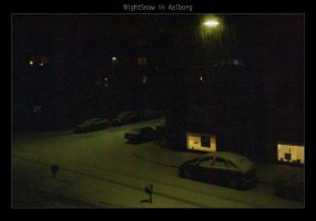 NightSnow in Aalborg by danzka
