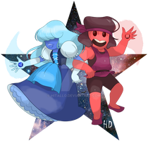 Ruby and Sapphire by hitallo