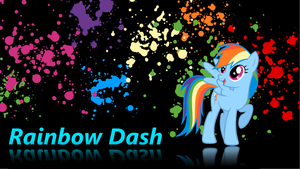 Rainbow Dash wallpaper v.2 by XVanilla-TwilightX