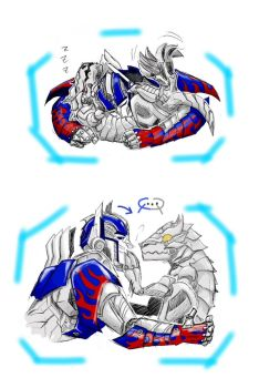 OP n Grimlock by Autumn123Charlotte