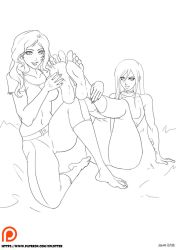 Feet-nic amid Amy and Emily by geviene81