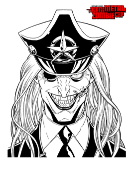 Death Metal Zombie Cop: LA's Nightmare Portrait by FelipeSmith