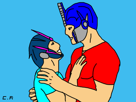 Optimus x Arcee: You're here by celtakerthebest