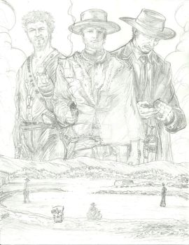 For A Few Dollars More Tribute-Pencils w.i.p. by StevJVaz72