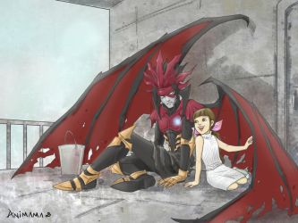Chaos and Marlene by animama