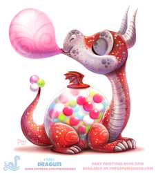 Daily Paint 1861# Dragum by Cryptid-Creations
