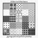 Black And White Seamless Patterns 2 by HGGraphicDesigns