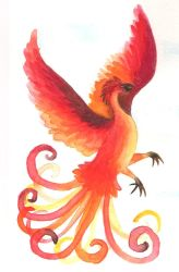 Watercolor Phoenix by NuclearKimchi