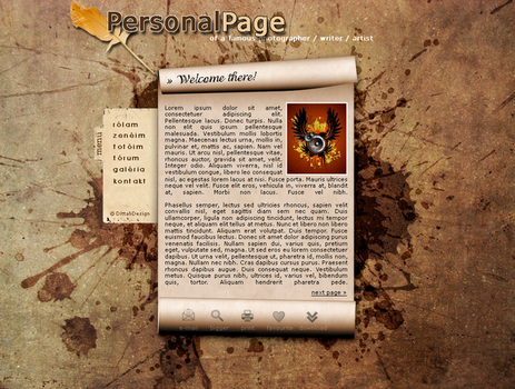 PersonalPage Design by dittah