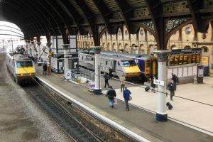 East Coast 91s and Northern Sprinter at York by rlkitterman