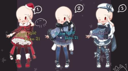 [CLOSED] Adoptable: Outfits 16 by ZylenXia