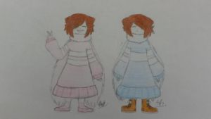 My UnderTale OC - Nami and Mina by Chia138