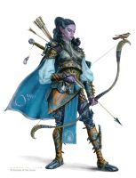 Half Moon Elf Ranger by AaronMiller