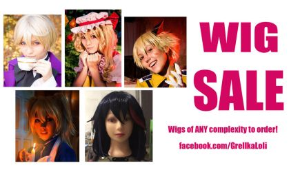 WIG SALE by grellkaLoli
